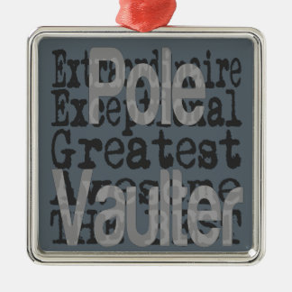 Pole Vaulter Extraordinaire Metal Ornament