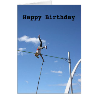 Pole Vaulter Happy Birthday Card