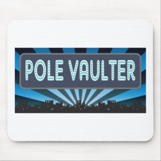 Pole Vaulter Marquee Mouse Pad