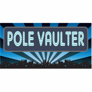 Pole Vaulter Marquee Cut Out