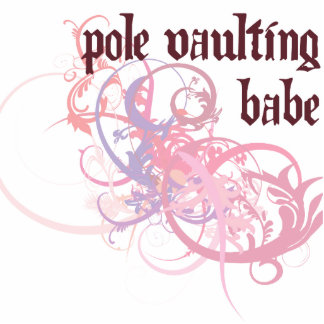 Pole Vaulting Babe Photo Cutouts