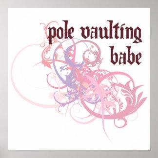 Pole Vaulting Babe Print
