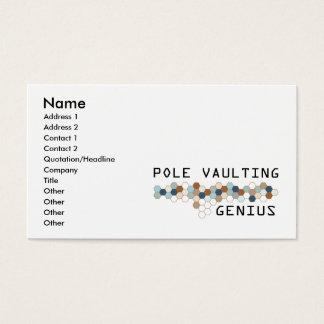 Pole Vaulting Genius Business Card