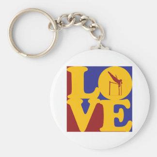 Pole Vaulting Love Key Chains