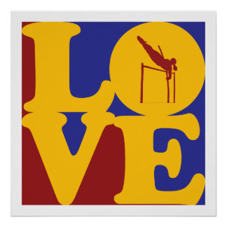 Pole Vaulting Love Poster