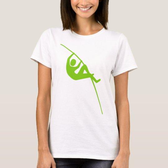Pole Vaulting - Martian Green T-Shirt