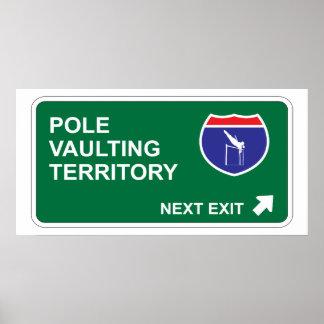 Pole Vaulting Next Exit Print