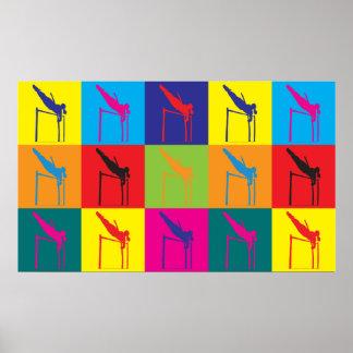 Pole Vaulting Pop Art Print