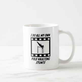 Pole Vaulting Stunts Coffee Mug
