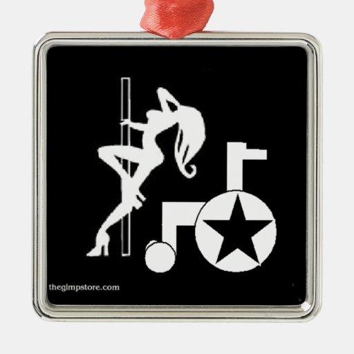 pole_wheelchair_gs_zazzle.jpg adorno navideño cuadrado de metal