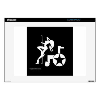 """pole_wheelchair_gs_zazzle.jpg decal for 15"""" laptop"""