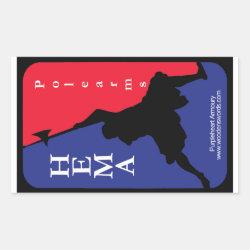 Polearm HEMA decal Rectangular Sticker