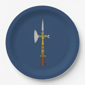 Poleaxe of Edward IV Paper Plates 9 Inch Paper Plate