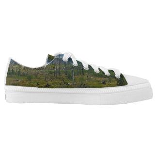Polebridge Area Burnout Glacier National Park Low-Top Sneakers