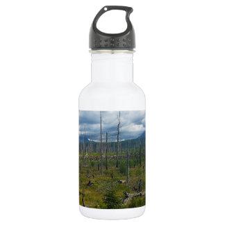 Polebridge Area Burnout Glacier National Park Water Bottle