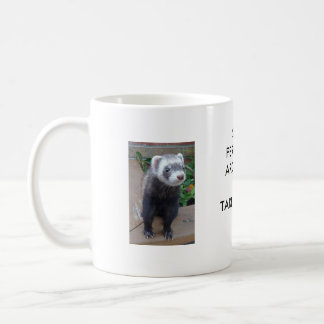 Polecat ferret classic white coffee mug
