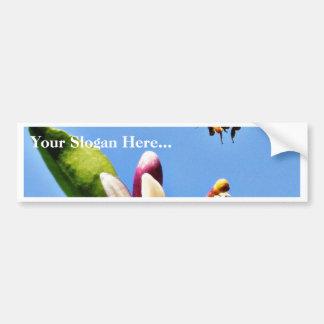 Polen de la abeja pegatina de parachoque