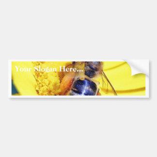 Polen de las flores de las abejas pegatina de parachoque