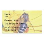 Polen de las flores de las abejas plantilla de tarjeta de negocio
