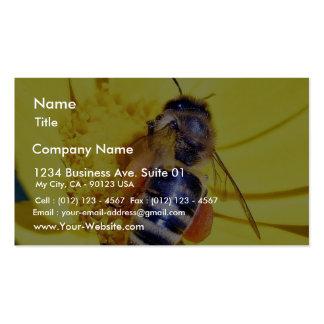 Polen de las flores de las abejas tarjetas de visita