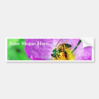 Polen de los insectos de las abejas pegatina de parachoque