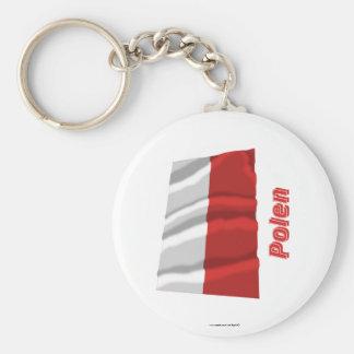 Polen Fliegende Flagge mit Namen Key Chain