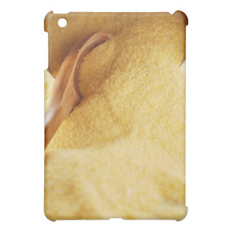 Polenta with wooden spoon and bowl iPad mini cover