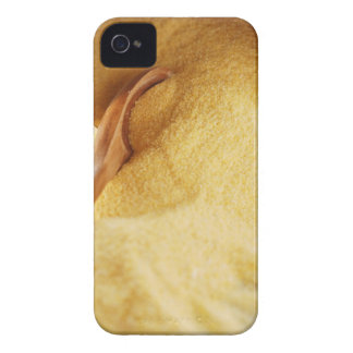 Polenta with wooden spoon and bowl iPhone 4 case