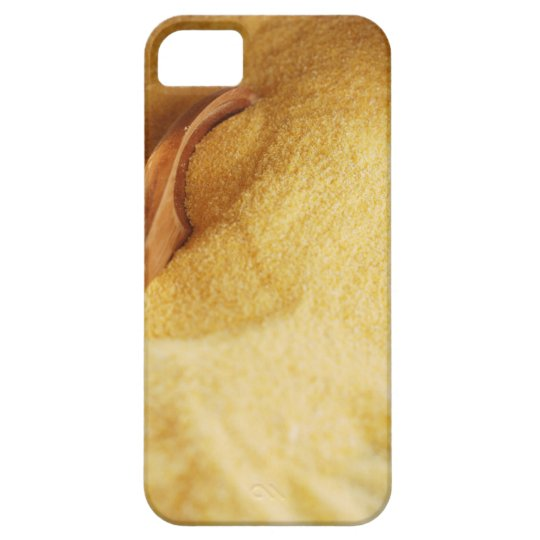 Polenta with wooden spoon and bowl iPhone SE/5/5s case