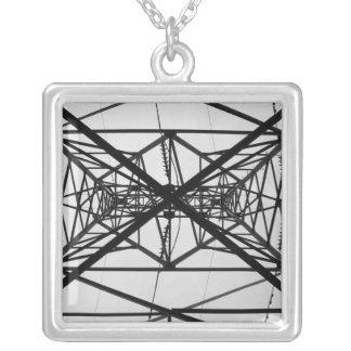 poles square pendant necklace