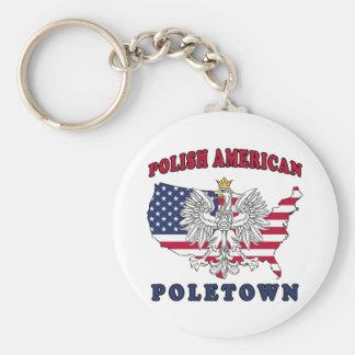Poletown Michigan Polish Keychain