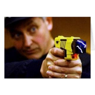 Poli con un arma de Taser Tarjeta Pequeña