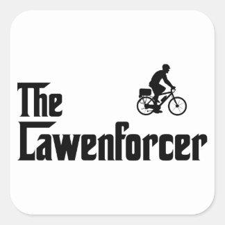 Poli de la bicicleta calcomanía cuadradas personalizada