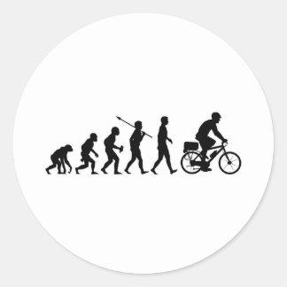 Poli de la bicicleta etiquetas redondas