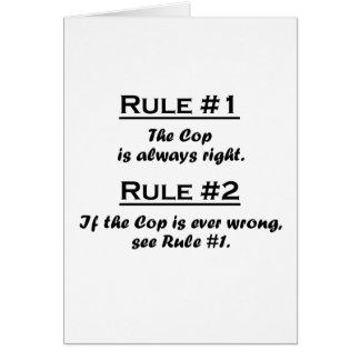 Poli de la regla tarjeton