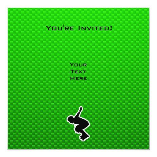 """Poli de Rollerblading Invitación 5.25"""" X 5.25"""""""