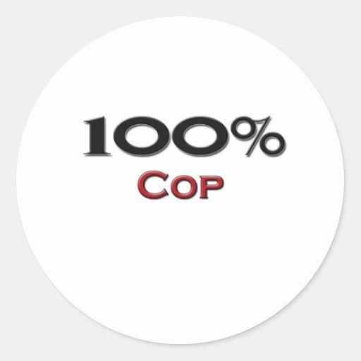 Poli del 100 por ciento etiquetas