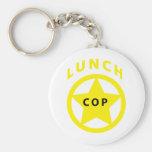 Poli del almuerzo llaveros personalizados