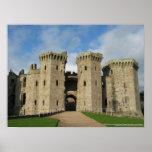 Poli del castillo del raglán de la torre del Gateh Poster