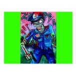 Poli del zombi tarjetas postales