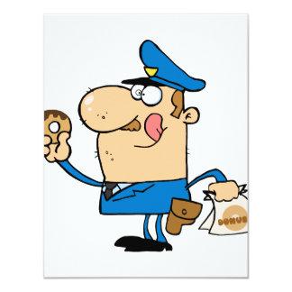 """poli divertido del dibujo animado que come los invitación 4.25"""" x 5.5"""""""