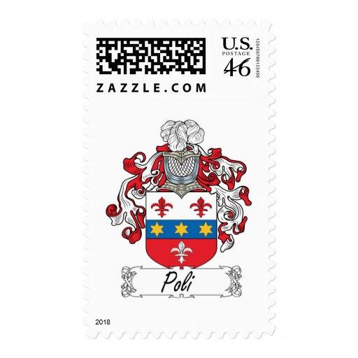 Poli Family Crest Stamp