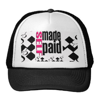 """POLI$HED= """"SELF MADE&PAID"""" bball-hat Trucker Hat"""