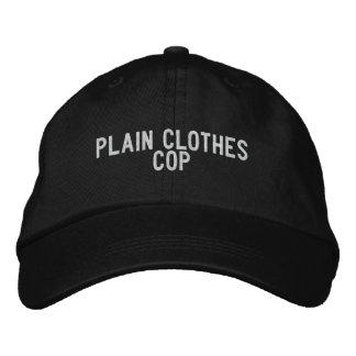 Poli llano de la ropa gorra de beisbol bordada