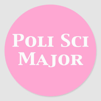 Poli Sci Major Gifts Classic Round Sticker