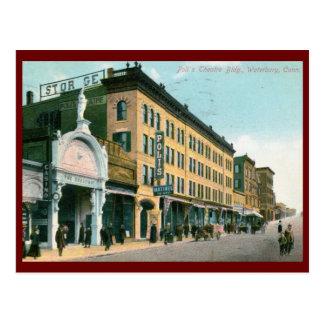 Poli Theatre, Waterbury, CT 1910 Vintage Postcard