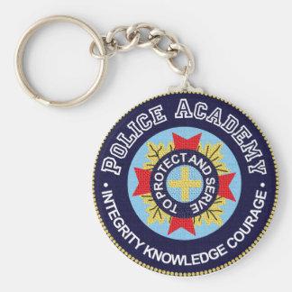 Police Academy Basic Round Button Keychain