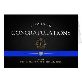 Police Academy Custom Thank You Card