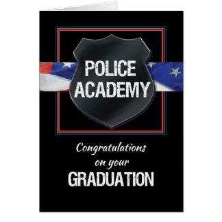 Police Academy Graduation Congratulations, Black w Card