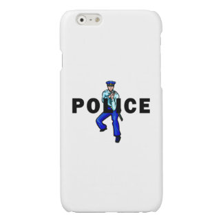 Police Action Logo Glossy iPhone 6 Case